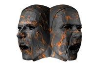Steinköpfe 3D Lizenzfreies Stockbild