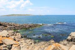Steinküste in Sozopol Lizenzfreies Stockbild