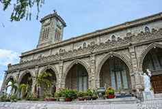 Steinkirche, alte Kathedrale, nha trang, Vietnam Stockbild