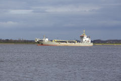 Steinkirchen (Germany) - Suction dredger vessel on the Elbe Stock Photography