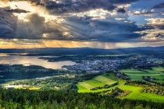 Steinkjer no meio de Noruega Fotos de Stock