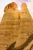 Steinklippen sieht wie Häuser einer Fee im Liebestal aus stockbilder