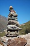 Steinkontrollturm in den Alpen Stockbild