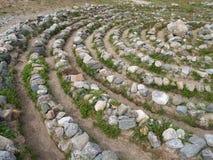 Steinlabyrinth auf der großen Solovki-Insel, Russland lizenzfreie stockfotografie
