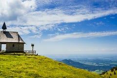 View on Steinlingkapelle next to Kampenwand mountain, Bavaria royalty free stock image