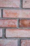 Steinmauer des roten Backsteins Lizenzfreies Stockbild