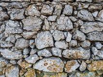 Steinmauermuster stockfotografie