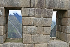 Steinmetzarbeit Machu Picchu Lizenzfreie Stockbilder