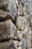 Steinmetzarbeit von Ruinen Machu Picchu in Peru Stockfotografie