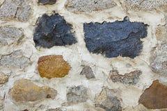 Steinmetzarbeit-Wand Stockbild