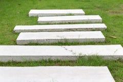 Steinpfad im Garten stockfotos