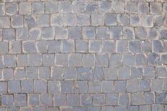 Steinpflasterungsbeschaffenheitshintergrund Stockfoto