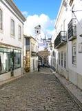 Steinplasterungsstraße Stockfoto