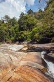 Steinplatte gewaschener Fluss Stockfoto