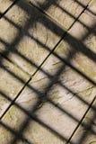 Steinplatten mit Schatten Stockbilder