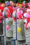 Steinpuppen im Tempel, Japan Stockfoto