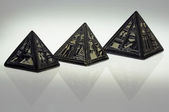 Steinpyramiden Stockfotografie