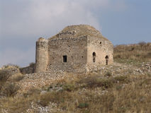 Steinruinen in Korinth, Griechenland Stockfoto