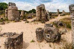 Steinsäulen nahe der Stadt von Varna in Bulgarien Stockfotografie