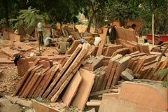 Steinscherblöcke in Indien Lizenzfreies Stockbild