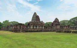 Steinschloss, Steinpalast, Schloss Prasat Hin Phimai bei Nakhon Stockbilder