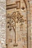 Steinschnitzen in Ananuri-Kirche Stockbild