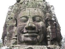 Steinschnitzen bei Angkor Wat Stockbild