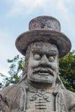 Steinschnitzen bei Wat Pho Stockfoto