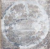 Steinschnitzen der chinesischen Art der Blume lizenzfreie stockfotografie