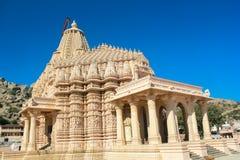 Steinschnitzen Jain Tempels Taranga Stockfoto