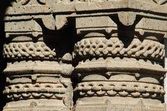 Steinschnitzen in Mahadji-shinde Tempel Lizenzfreie Stockfotografie