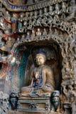 Steinschnitzen von Yungang 25 Stockfoto