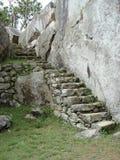 Steinschritte bei Machu Picchu Lizenzfreie Stockbilder