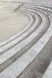 Steinschritte in einem Amphitheater stockbild