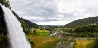 Steinsdalsfossen - a gorgeous waterfall in Norway Royalty Free Stock Image