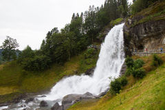 Steinsdalsfossen - a gorgeous waterfall in Norway Stock Image