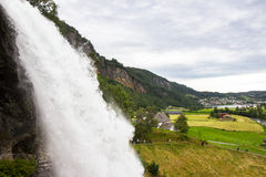 Steinsdalsfossen - a gorgeous waterfall in Norway Royalty Free Stock Photography