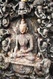 Steinskulptur Buddha. Nepal Lizenzfreies Stockbild
