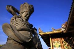 Steinskulptur des chinesischen Gottes im chinesischen Tempel, China Lizenzfreies Stockfoto