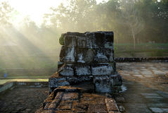 Steinskulptur und Entlastung in Barong-Tempel lizenzfreie stockbilder