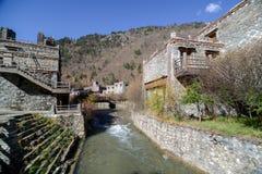 Steinstadt, Jiuzhaigou, Sichuan, China Stockbild