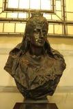 Steinstatue der K?nigin Alexandra stockfotografie