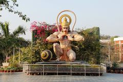 Steinstatue des hindischen Gottes Hanuman Stockfotos