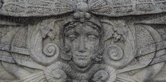 Steinstatue eines Frauengesichtes Lizenzfreie Stockfotos