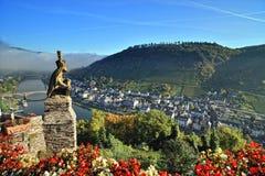 Steinstatuearchitektur vom Cochem Schloss Lizenzfreie Stockbilder