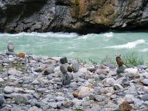 Steinstatuen in Aareschlucht-Schlucht Lizenzfreies Stockfoto