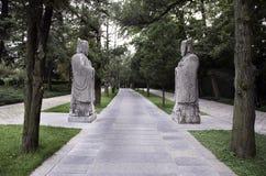Steinstatuen bei Ming Xiaoling Stockbild