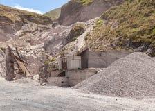 Steinsteinbruch, Südamerika stockfotografie