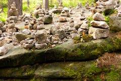 Steinsteinhaufen Stockbilder