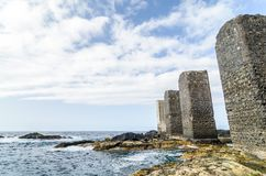 Steintürme in La Gomera-Insel, Kanarische Inseln stockbilder
